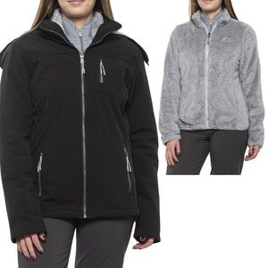 NWT. NEW BALANCE Soft Shell Jacket 3 in 1